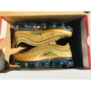 Nike Air Max '97 Vapormax GS Metallic GoldRed NWT